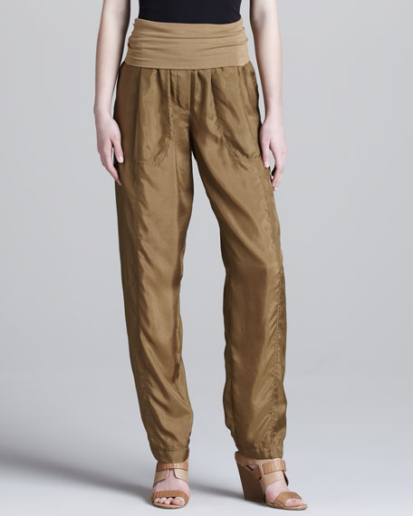 Relaxed Silk Pants