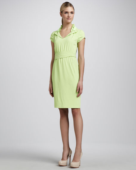 Arlo Ruffle-Collar Dress