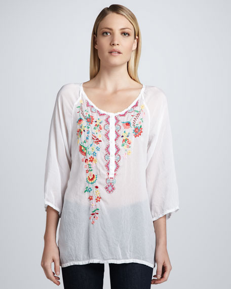 Embroidered Georgette Monet Blouse