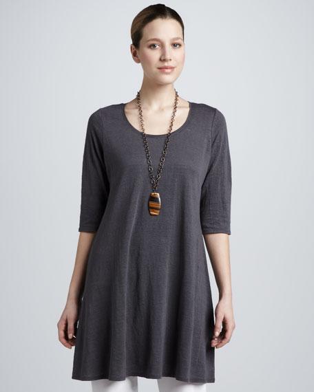 Linen Jersey Layering Tunic