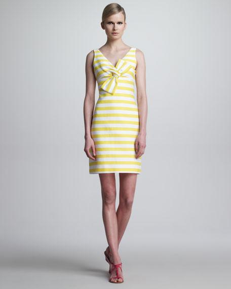 silverscreen sleeveless striped bow dress