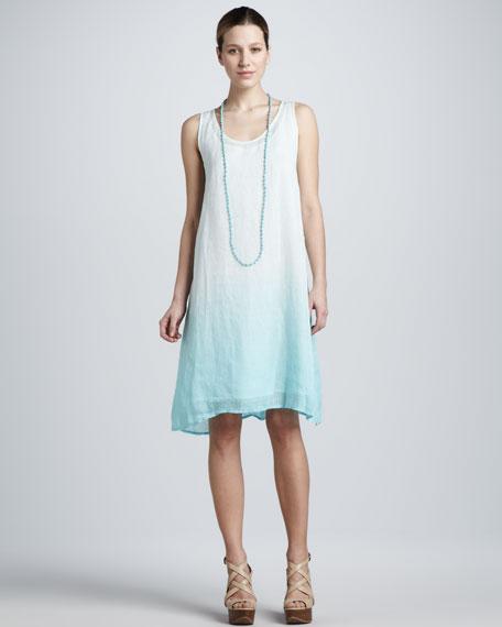 Ombre Layered Linen Dress, Women's