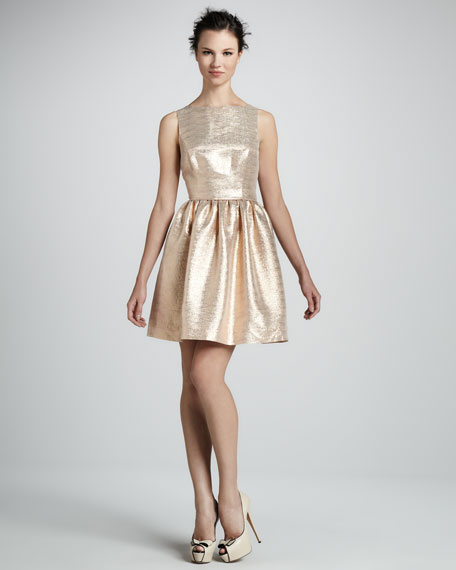 Tillie Metallic Fit-and-Flare Dress