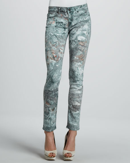 Skinny Ace Marble Jeans