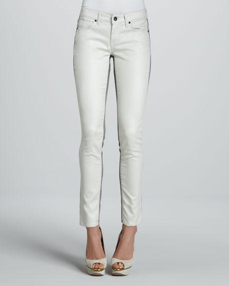 Split Skinny Jeans, Oyster