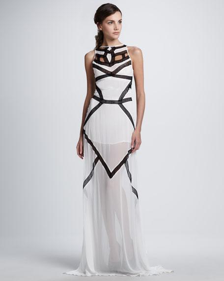Pagoda Contrast Maxi Dress