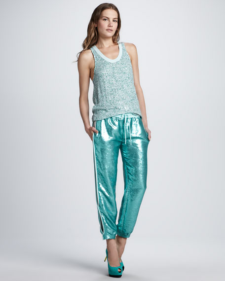 Kamaris Sequined Drawstring Pants