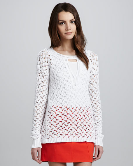 Cora Lace Chunky Sweater