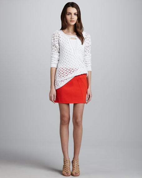Cameroon Bias-Seamed Miniskirt