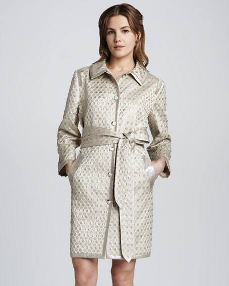 Romy Dot-Jacquard Coat