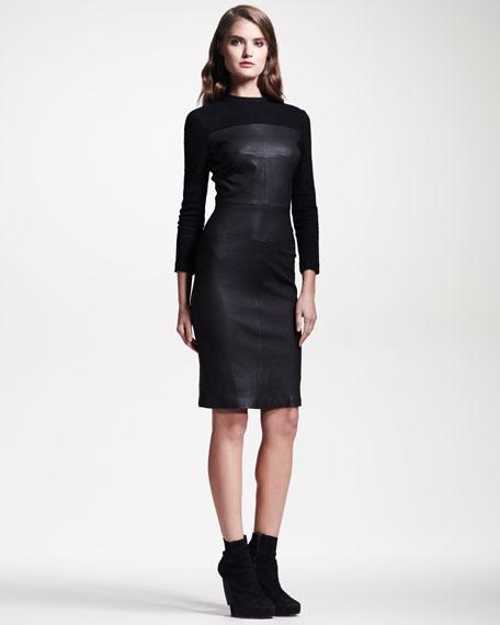 Booth Leather Sheath Dress