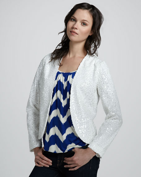 Sequined Drape Jacket
