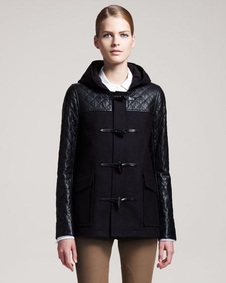 Marimba Quilted-Panel Coat