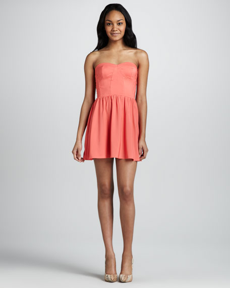Margarita Strapless Mini Dress