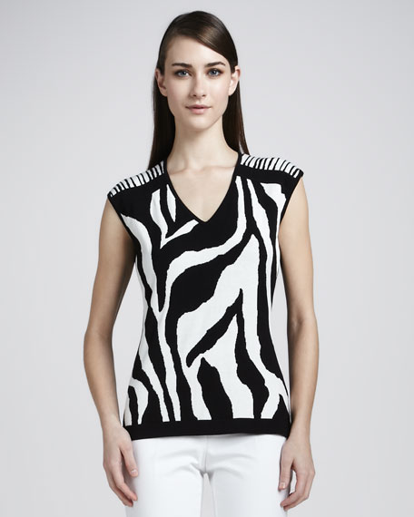 Zebra Jacquard Sweater