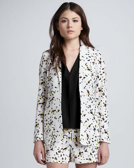 Vint Printed Silk Jacket