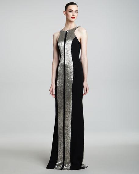 Liquid Metal-Inset Gown