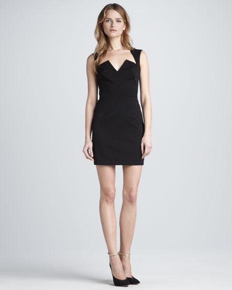 Stretch Gabardine Mini Dress