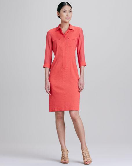 Austin Placket Shirt Dress
