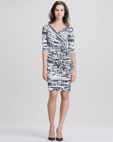Bentley Tie-Dye Ruched Dress