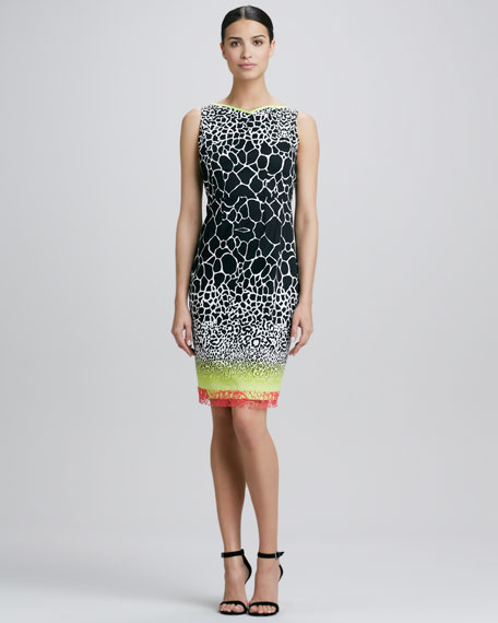Marsha Printed Sheath Dress
