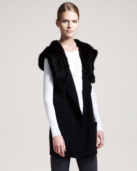 Nayeli Fur-Hood Vest