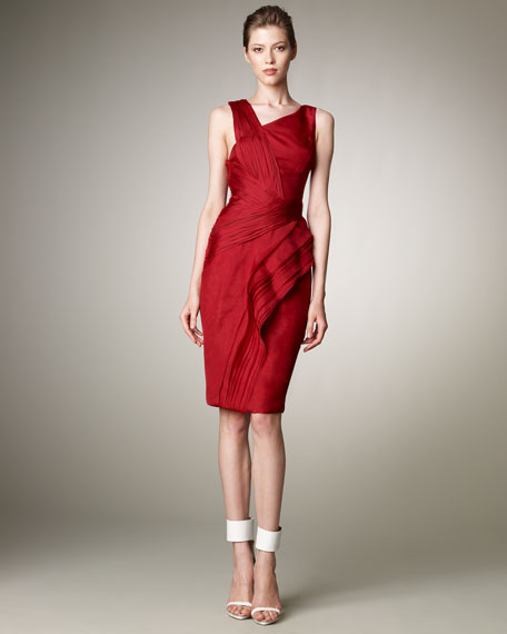 Asymmetric Organza Dress