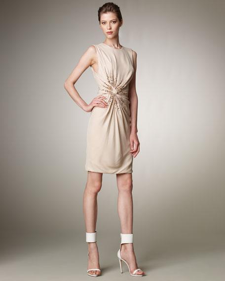 Sunburst Draped Dress