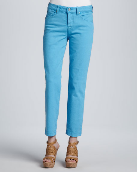 Sandra D. Skinny Control-Panel Ankle Jeans