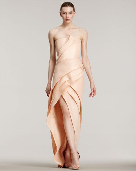 Strapless Silk Gazar Gown