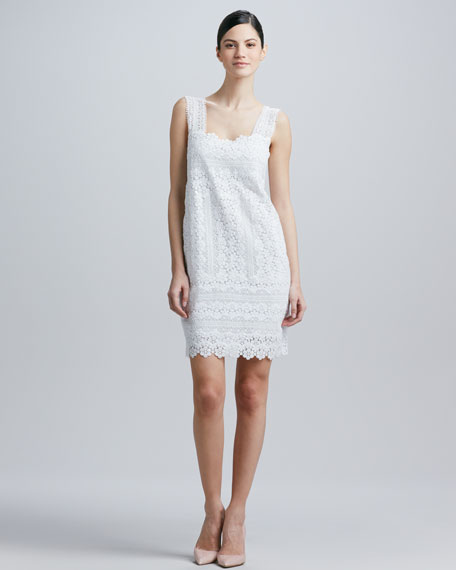Square-Neck Lace Dress