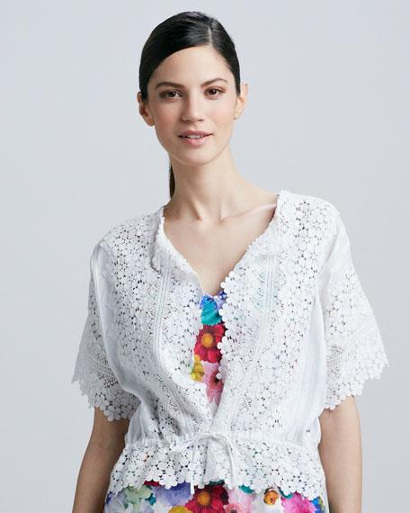 Lace Tie-Waist Jacket