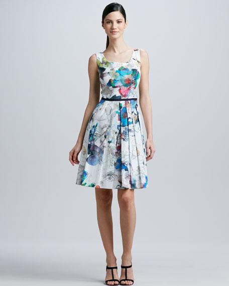 Sleeveless Scoop-Neck Dress