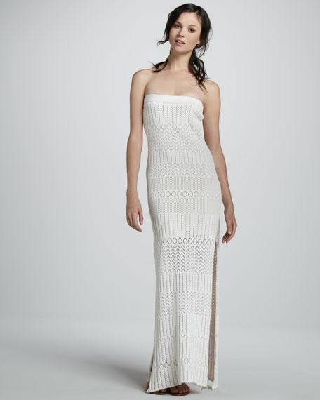 Lou Crochet Strapless Maxi Dress