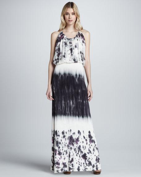 Debi Watercolor-Print Maxi Dress