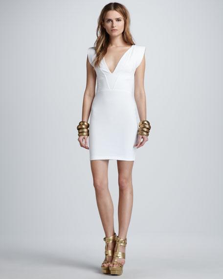 Amara Strong-Shoulder Dress