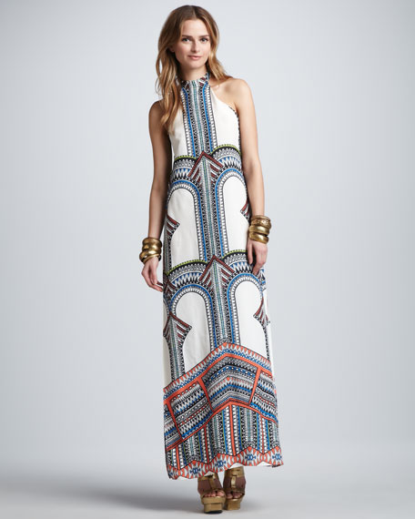 Winona Tribal-Print Maxi Dress
