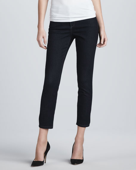 Jill Dark Enzyme Fitted Ankle Jeans, Petite