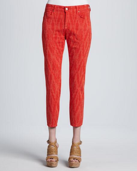 Cayene Alisha Printed Ankle Jeans, Petite