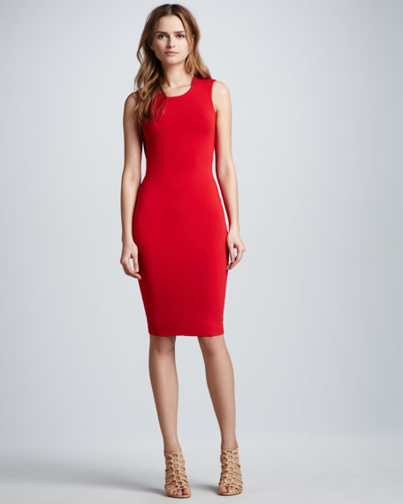 Down Force Cutout-Back Sheath Dress
