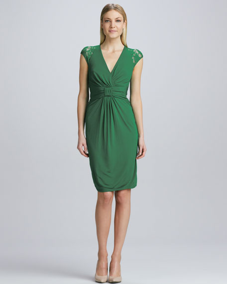 Ruched-Front Cocktail Dress