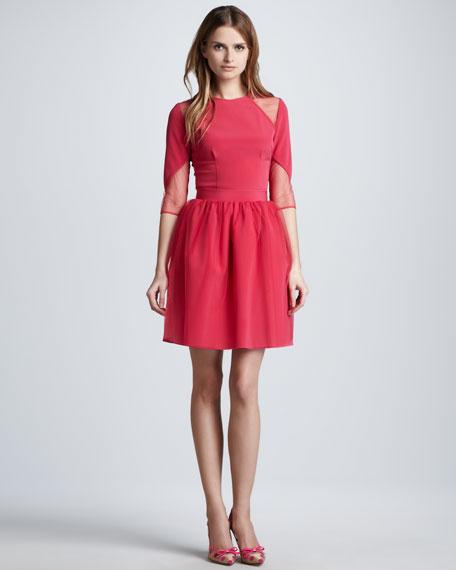 Tulle-Overlay Full Skirt