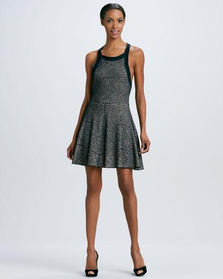 Printed Full-Skirt Dress