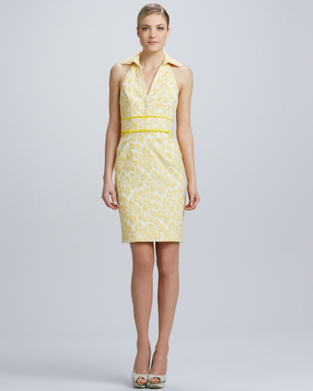 Halter Dress in a Yellow Print