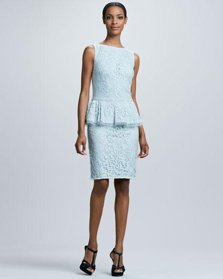 Lace Peplum Cocktail Dress