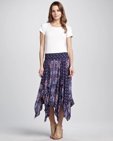 Printed Fly-Away Skirt