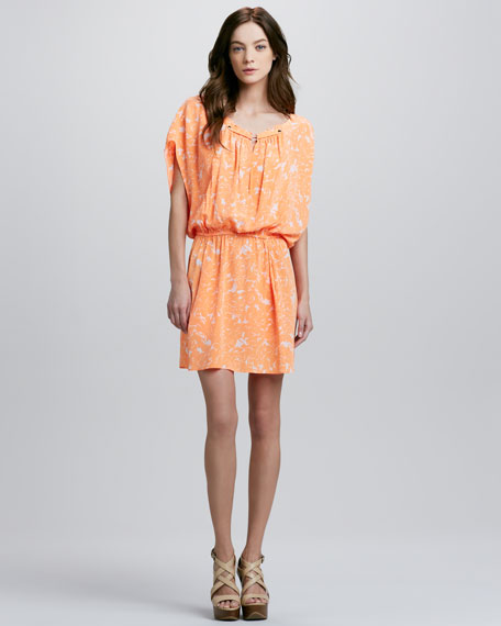 Cocoon-Sleeve Dress