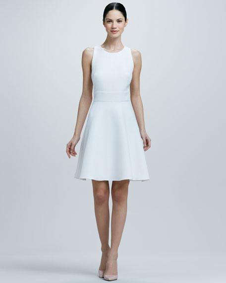 A-line Crisscross Back-Cutout Dress