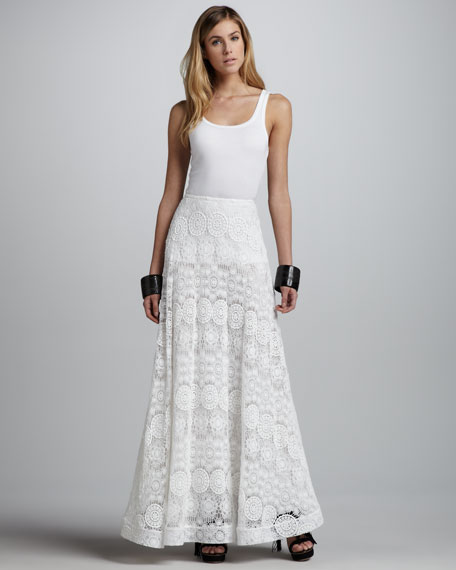 Najila Lace/Crochet Maxi Skirt