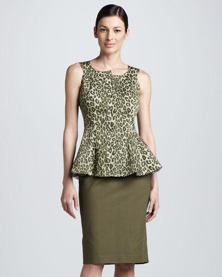 Modern Slim Skirt, Kale